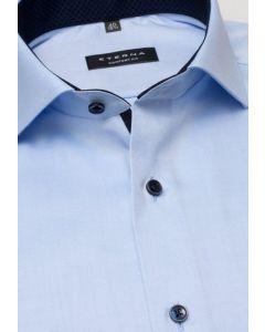 Eterna Skjorte Twill Comfort Fit Blå
